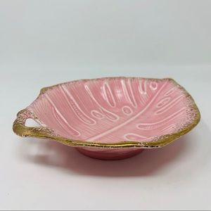 Vintage Dining - Vintage ceramic Leaf Dish California Originals b6